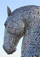 General view of the Kelpies, Falkirk, Scotland on 28.5.18.