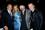 WEST HOLLYWOOD, CA. - February 08: Doug Morris, Chairman and CEO of Universal Music Group, Musician Sheryl Crow and Musicians The Edge and Larry Mullen Jr. of U2 attend the Universal Music Group Chairman Doug Morris' Grammy Awards Viewing Dinner at The Palm on February 8, 2009 in West Hollywood, California.