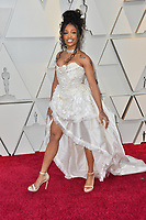 LOS ANGELES, CA. February 24, 2019: SZA at the 91st Academy Awards at the Dolby Theatre.<br /> Picture: Paul Smith/Featureflash