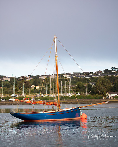 Uile-Ioc swinging peacefully on her Cork Harbour mooring Photo: Bob Bateman