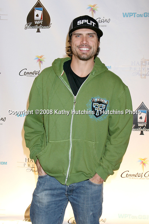 Joshua Morrow.WPT Celebrity Invitational 2008 .Commerce Casino.Commerce, CA.March 1, 2008.©2008 Kathy Hutchins / Hutchins Photo.