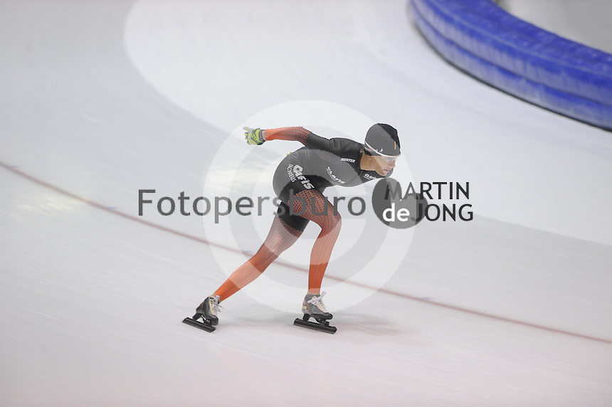 SCHAATSEN: HEERENVEEN: 22-09-2014, IJsstadion Thialf, Team Clafis, Carien Kleibeuker, ©foto Martin de Jong