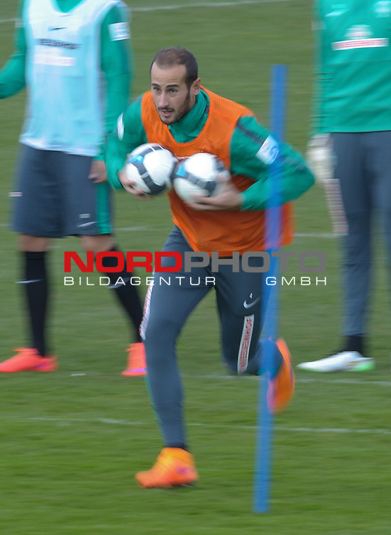 08.04.2015, Trainingsgelaende, Bremen, GER, 1.FBL, Training Werder Bremen, im Bild Alejandro Galvez (Bremen #4)<br /> <br /> Foto &copy; nordphoto / Frisch