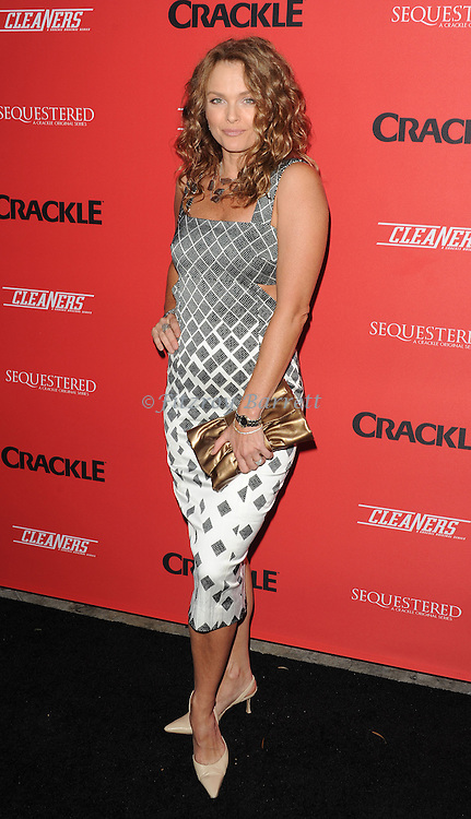 Diana Meyer arriving at Crackle Presents: Premieres for Sequestered and Cleaners, held at 1 OAK Los Angeles, Ca. on August 14, 2014.