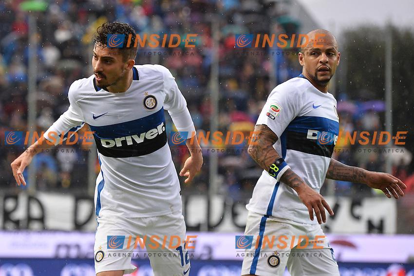 Alex Telles, Felipe Melo Inter <br /> Frosinone 09-04-2016 Stadio Matusa Football Calcio Serie A 2015/2016 Frosinone - Inter Foto Andrea Staccioli / Insidefoto