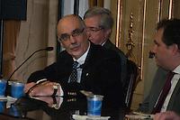 S&Atilde;O PAULO-SP-18,08,2014-MINISTRO DO STJ-LUIS FELIPE SALOM&Atilde;O/LAN&Ccedil;AMENTO/&quot;DIREITO PRIVADO-TEORIA E PR&Aacute;TICA&quot;-<br /> Antonio Matias Couto durante o lan&ccedil;amento do livro &quot;Direito Privado-Teoria e Pr&aacute;tica,na Faculdade de Direito da USP,Largo S&atilde;o Franscisco na regi&atilde;o central da cidade de S&atilde;o Paulo,nessa segunda,18 (Foto:Kevin David/Brazil Photo Press)