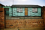 "A ""matchbox"" house in a street in Soweto. April 2009"