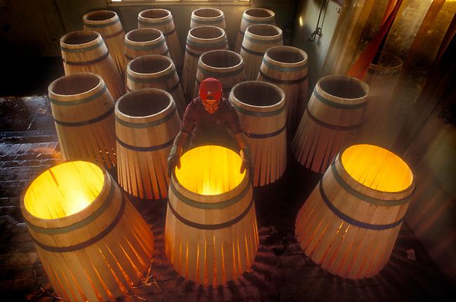 Barrel making at Demptos, Napa