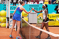 Czech Karolína Pliskova and American Sloane Stephens during Mutua Madrid Open 2018 at Caja Magica in Madrid, Spain. May 09, 2018. (ALTERPHOTOS/Borja B.Hojas) /NortePhoto NORTEPHOTOMEXICO