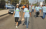 PACOIMA, CA. - October 10: Stephanie Jacobsen and Jessica Lucas walking at The 2009 American Dream Walk To Benefit Habitat For Humanity at Lowe's Home Improvement on October 10, 2009 in Pacoima, California.