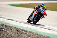 9th July 2020; Circuit de Barcelona Catalunya, Barcelona, Spain; FIM Superbike World Championship Test, Day Two; Leandro Mercado of the Motocorsa Racing Team in action with the Ducati Panigale V4 R