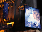 Theatre Marquee for. the Broadway Opening Night Performance Curtain Call for  'GHOST' a the Lunt-Fontanne Theater on 4/23/2012 in New York City.