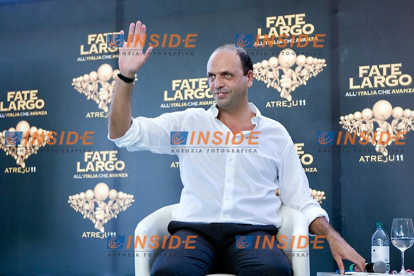 QUINTO GIORNO  DI ATREJU 2011 FATE LARGO ALL ITALIA CHE AVANZA..NELLA FOTO IL SEGRETARIO DEL PDL ANGELINO ALFANO..ROMA11 SETTEMBRE  2011..PHOTO  SERENA CREMASCHI INSIDEFOTO..............................