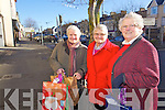 Getting all the Christmas goodies in Castleisland on Thursday were Joan Lynch, Chrisie Roche and Ainnie Leahy.
