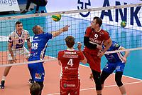 GRONINGEN - Volleybal, Abiant Lycurgus - Noriko Maaseik, Alfa College , Champions League , seizoen 2017-2018, 08-11-2017 Lycurgus speler Dennis Borst