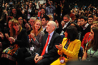 Liverpool, England. 24th September, 2016. <br /> Jeremy Corbyn (FR centre) is announced as the new leader of the Labour Party at the ACC Conference Centre. Mr Corbyn&rsquo;s victory followed nine weeks of campaigning against fellow candidate, Owen Smith. This is his second leadership victory in just over twelve months and was initiated by the decision of Angela Eagle to stand against him. Kevin Hayes/Alamy Live News