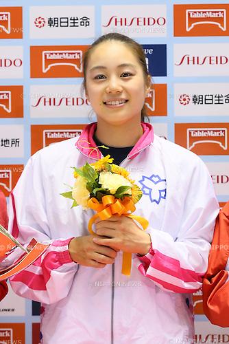 Natsumi Sasada, <br /> MAY 17, 2015 - Artistic Gymnastics : <br /> The 54th NHK Cup <br /> Individual All-Around <br /> Award Ceremony <br /> at Yoyogi 1st Gymnasium, Tokyo, Japan. <br /> (Photo by YUTAKA/AFLO SPORT)