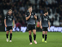 Burnley's James Tarkowski applauds the Burnley fans at the end of the game<br /> <br /> Photographer Rob Newell/CameraSport<br /> <br /> The Premier League - West Ham United v Burnley - Saturday 3rd November 2018 - London Stadium - London<br /> <br /> World Copyright &copy; 2018 CameraSport. All rights reserved. 43 Linden Ave. Countesthorpe. Leicester. England. LE8 5PG - Tel: +44 (0) 116 277 4147 - admin@camerasport.com - www.camerasport.com