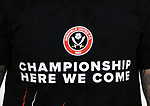 A Championship here we come t-shirt during the League One match at the Sixfields Stadium, Northampton. Picture date: April 8th, 2017. Pic David Klein/Sportimage