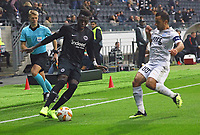 Danny da Costa (Eintracht Frankfurt) gegen Georgios Vasiliou (Apollon Limassol FC) - 25.10.2018: Eintracht Frankfurt vs. Apollon Limassol FC, Commerzbank Arena, Europa League 3. Spieltag, DISCLAIMER: DFL regulations prohibit any use of photographs as image sequences and/or quasi-video.