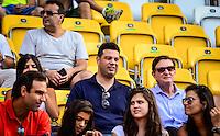 RIO DE JANEIRO, RJ, 05.02.2017 – GIGANTES DA PRAIA – O Prefeito do Rio de Janeiro, Marcelo Crivella e o Ministro dos Esportes vistos na arquibancada, durante o Desafio de Gigantes da Praia realizado na quadra de central de tênis, no Parque Olímpico da Barra da Tijuca, zona oeste da cidade, na manhã desta domingo, 05. (Foto: Jayson Braga / Brazil Photo Press)