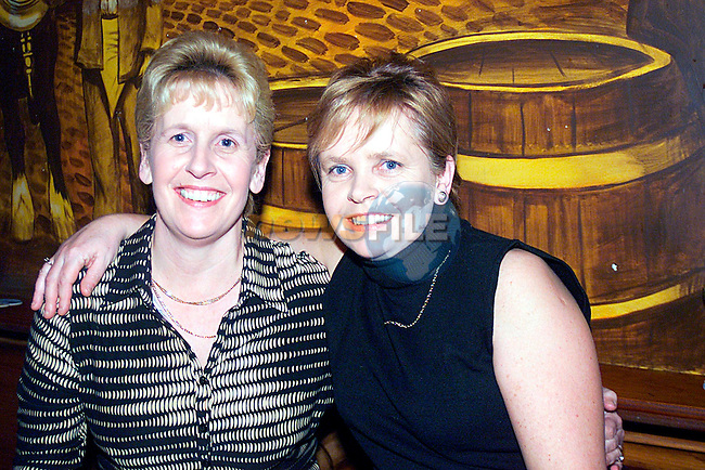 Twins Maegaret O Hare, and  Patrica Byrne enjoying a night in Bensons..                                                                    .Pic Tony Campbell/Newsfile