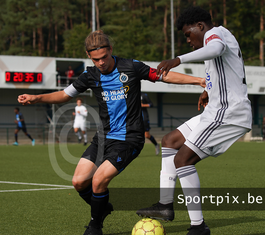 20191005: OUD HEVERLEE: OHL's Club Brugge's are pictured during the Belgian Elite Youth U18 league competition between Oud Heverlee Leuven U18 and Club Brugge U18 on 05th October 2019 at Korbeekdamstraat, Oud-Heverlee, Belgium PHOTO SPORTPIX.BE | SEVIL OKTEM