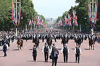 Crowds<br /> Trooping the Colour, at Buckingham Palace, London, England, UK  June 09, 2018.<br /> CAP/GOL<br /> &copy;GOL/Capital Pictures