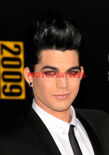 Adam Lambert arriving at the 2009 American Music Awards at the Nokia Theatre in Los Angeles, November22nd 2009..© Chris Walter.