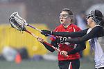 Santa Barbara, CA 02/19/11 - Erica Davis (Utah #19) and Lauren VanCitters (Nevada-Reno #3) in action during the Utah-Nevada Reno game at the 2011 Santa Barbara Shootout.