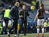 Bolton Wanderers' manager Phil Parkinson throws the ball back to Bolton Wanderers' Pawel Olkowski <br /> <br /> Photographer Andrew Kearns/CameraSport<br /> <br /> The EFL Sky Bet Championship - Sheffield Wednesday v Bolton Wanderers - Tuesday 27th November 2018 - Hillsborough - Sheffield<br /> ack to <br /> World Copyright © 2018 CameraSport. All rights reserved. 43 Linden Ave. Countesthorpe. Leicester. England. LE8 5PG - Tel: +44 (0) 116 277 4147 - admin@camerasport.com - www.camerasport.com