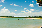 Imagens da Ponta do Coruripe em Alagoas, nordeste brasileiro, mar de aguas calmas e cristalinas, com diversos barcos na orla.     <br /> images of Coruripe tip in Alagoas, northeastern Brazil, sea calm and crystalline waters, with several boats on the waterfront