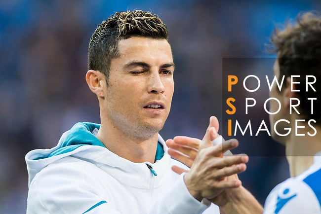 Cristiano Ronaldo of Real Madrid prior to the La Liga 2017-18 match between Real Madrid and RC Deportivo La Coruna at Santiago Bernabeu Stadium on January 21 2018 in Madrid, Spain. Photo by Diego Gonzalez / Power Sport Images
