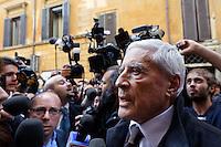 Roma  23 Aprile 2013.Si riunisce  la direzione nazionale del Partito Democratico. Franco Marini