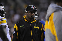 03 November 2008:  Steelers head coach Mike Tomlin..The Pittsburgh Steelers defeated the Washington Redskins 23-6 on Monday Night Football at FedEx Field in Landover, MD.