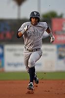 Center Fielder Eduardo Sosa #2  of the Tampa Yankees during the game against the Daytona Cubs at Jackie Robinson Ballpark on April 19, 2012 in Daytona Beach, Florida. (Scott Jontes / Four Seam Images)