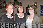 ENJOYED: Laura O'Regan (Ballyheigue), Marie and Joan Corridon (Ardfert), who enjoyed their women's Christmas in Kate Browne's Bar & Restaurant, Ardfert on Friday night...