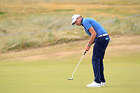 Simon Thornton (IRL) on the 16th green during Round 3 of the Dubai Duty Free Irish Open at Ballyliffin Golf Club, Donegal on Saturday 7th July 2018.<br /> Picture:  Thos Caffrey / Golffile