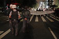 SÃO PAULO,SP,31-10-2013 - ATO AUMENTO IPTU - Manifestantes realizam ato contra o aumento de IPTU na Av. Paulista.(Foto Ale Vianna/Brazil Photo Press).