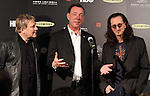 LOS ANGELES, CA - APRIL 18:  Rush answers questions during a press conference at the 2013 Rock and Roll Hall of Fame Induction Ceremony at the Nokia Theatre in Los Angeles, CA. (Photo by Dave Eggen/Inertia)