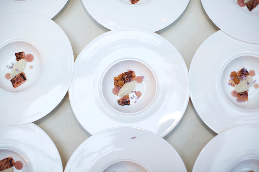 New York, NY - June 14, 2016: Chef Edward Forster and the team from Buffalo Proper present dinner at the James Beard House.<br /> <br /> CREDIT: Clay Williams for the James Beard House.<br /> <br /> &copy; Clay Williams / claywilliamsphoto.com