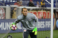 Harrison, NJ - Wednesday Feb. 22, 2017: Luis Robles prior to a Scotiabank CONCACAF Champions League quarterfinal match between the New York Red Bulls and the Vancouver Whitecaps FC at Red Bull Arena.