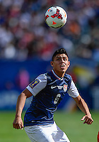 Chicago, IL - Sunday July 28, 2013:   USMNT midfielder Joe Corona (6) during the CONCACAF Gold Cup Finals soccer match between the USMNT and Panama, at Soldier Field in Chicago, IL.