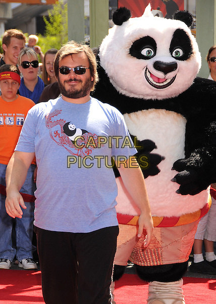 "JACK BLACK.""Kung Fu Panda"" Los Angeles Premiere at Grauman's Chinese Theatre, Hollywood, California, USA..June 1st, 2008.half length blue beard facial hair sunglasses shades t-shirt dress-up costume .CAP/ADM/BP.©Byron Purvis/AdMedia/Capital Pictures."