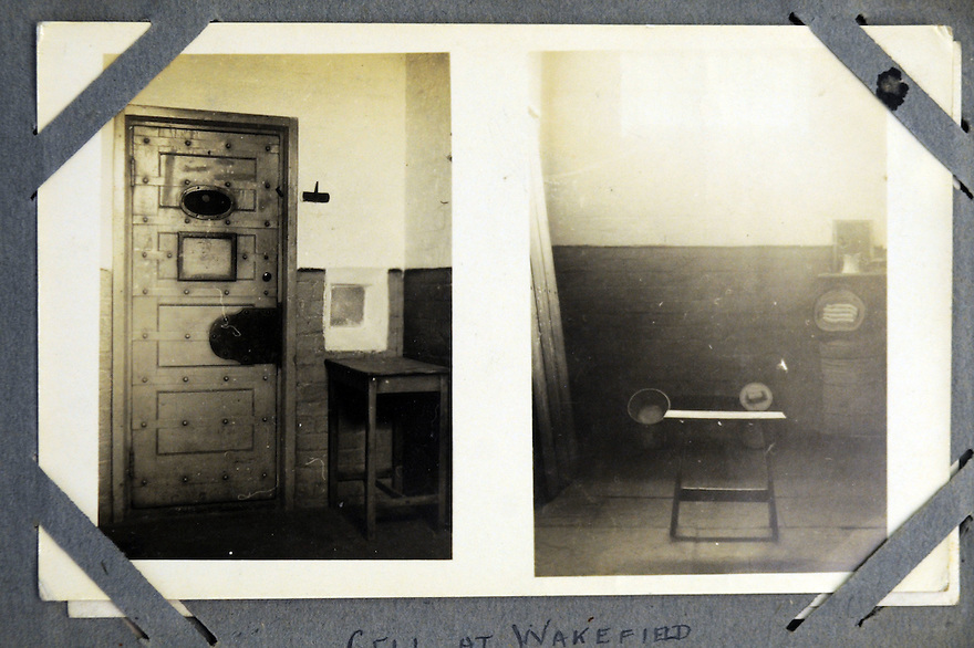 MARTEN WW1 CASE STUDY. COLLECTS OF HOWARD C MARTEN, CONSCIENTIOUS OBJECTOR. THE INSIDE OF WAKEFIELD PRISON WHERE HE SERVED A TERM DURING THE WAR.