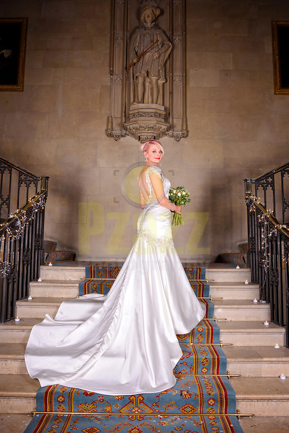 Bride in her Benjamin Roberts Wedding Dress