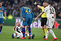 Alvaro Morata of Atletico Madrid argues with Giorgio Chiellini of Juventus during the Uefa Champions League 2018/2019 round of 16 second leg football match between Juventus and Atletico Madrid at Juventus stadium, Turin, March, 12, 2019 <br />  Foto Andrea Staccioli / Insidefoto