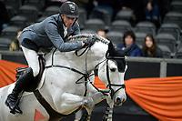 ZUIDBROEK - Paardensport, ICCH Zuidbroek, springen internationaal 1.40 klassiek, 03-01-2019,  Jur Vrieling met Dallas Vdl
