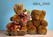 Carl, CUTE ANIMALS, teddies, photos, 3 teddies, tulips(SWLA3505,#AC#)