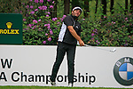 Jose Manuel Lara (ESP) tees off on the 10th tee during Day 3 of the BMW PGA Championship Championship at, Wentworth Club, Surrey, England, 28th May 2011. (Photo Eoin Clarke/Golffile 2011)